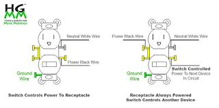 wire an outlet from another hgmm switch receptacle combo 4 luxury