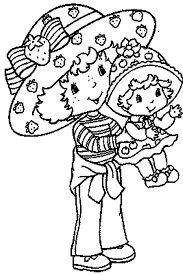 strawberry shortcake coloring page carry a baby cartoon coloring