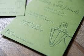 Letterpress Invitations 160 French Paper 1 Color Letterpress Invitation Invitations