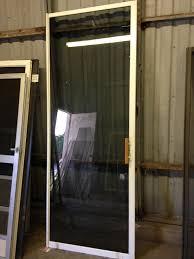 95 u2033 tempered glass white double patio sliding door in good