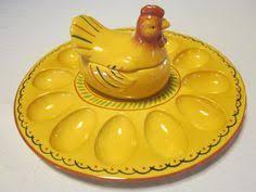 vintage deviled egg platter deviled egg plate vintage cranberry glass hobnail deviled egg