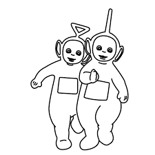 tinky winky lala teletubbies coloring pages free coloring pages