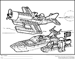 lego coloring pages boat and plane ginormasource kids lego