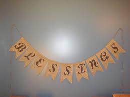thanksgiving burlap banner blessings burlap banner thanksgiving burlap by simplyblessedhome