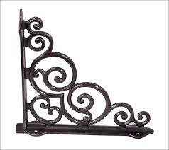 furniture magnificent iron support brackets metal shelf brackets