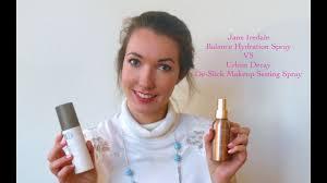jane iredale hydration spray vs urban decay makeup setting spray