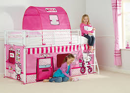 ReadyRoom Hello Kitty M Mid Sleeper Bed Tent Amazoncouk - Hello kitty bunk beds