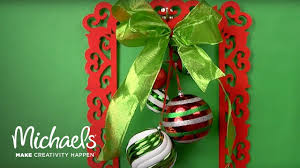 how to make a holiday frame wreath diy holiday michaels youtube