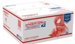 usps free spider man flat rate shipping boxes free stuff