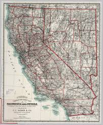 map of nevada california and nevada david rumsey historical map collection