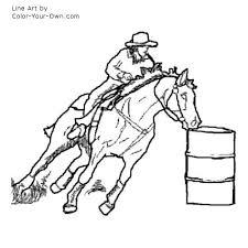 barrel racing horse coloring