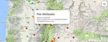 a map of oregon wildfires a map of oregon fires via route map