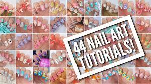 20 amazing and simple nail 44 nail art tutorials nail art design compilation youtube