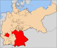 Map Of German States by German Empire