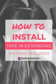 in extensions how to install in hair extensions