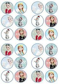 Christmas Cake Decorations Frozen by Christmas Frozen Edible Premium Wafer Paper Cupcake Toppers