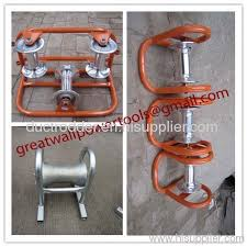 corner roller with plug in hinges cable guide cable laying