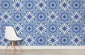 blue and white portuguese tiled wallpaper murals wallpaper