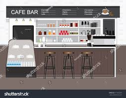 modern cafe shop interiordecoration style flat stock vector