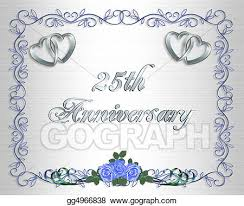 25th Wedding Anniversary Card Designs