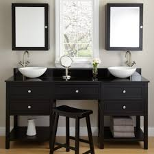 single sink vanity with makeup area bridgeport corner vanity