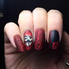 v for vendetta nail art u2013 polished inka