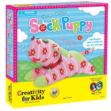 amazon com creativity for kids sew cute sock puppy toys u0026 games