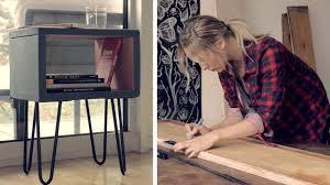 Wohnzimmertisch Vintage Selber Machen Design Nachttisch Diy Tisch Mit Haarnadelbeinen Selber Machen