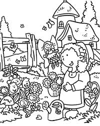 anne story and garden of smiling flower coloring pages color luna