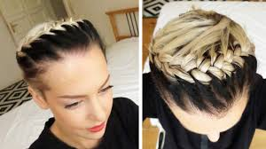 hair braid across back of head french braid across head tutorial youtube
