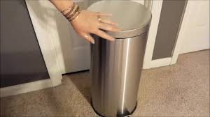 malmo stainless steel large kitchen trash can review youtube