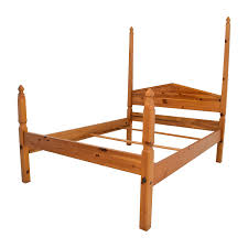77 Off Pine Four Poster Queen Bed Frame Beds