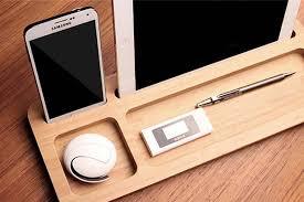 Bamboo Desk Organizer The Handmade Minimal Bamboo Desk Organizer Gadgetsin