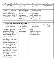 this employee performance action plan template is available for