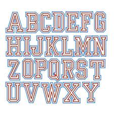 varsity letter font levelings