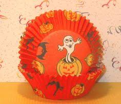 24 halloween cupcake liners jack o lantern baking cups striped