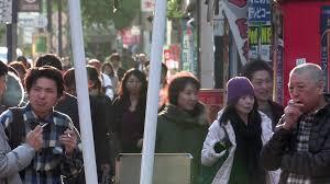 November Tokyo by Tokyo Japan Circa November 2016 Crowds Of People Walking In The