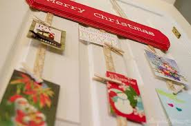 christmas card display holder diy hanging christmas card holder unoriginal
