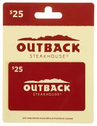 outback steakhouse gift card new and awesome product awaits