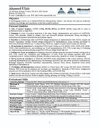Entry Level Network Technician Resume Network Administrator Resume Template
