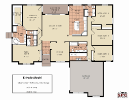 one story house plans with two master suites floor plans for single level homes fresh baby nursery homes with