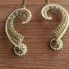 jhumka earrings antique gold tone jhumka earrings