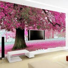 wedding backdrop hd wholesale purple flower tree 3d wall papers cherry blossom