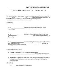 free connecticut partnership agreement template pdf word