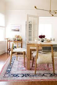 dining room sets los angeles john vogel chairs from west elm sheepskin create a modern