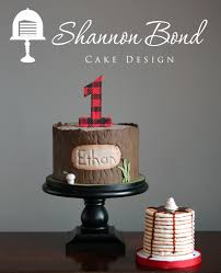 plaid first birthday cake by shannon bond cake design cakes