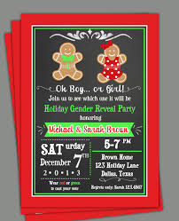 halloween gender reveal party ideas christmas gender reveal invitation printable or printed with