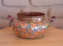 Mexican Vase Mexican Hand Painted Copper Vase D U0027regalo