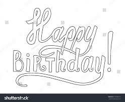 happy birthday hand drawn greetings card stock vector 379358911