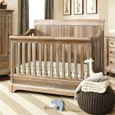 rustic gray baby crib with drawer underneath decofurnish
